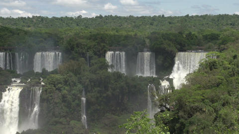 005 Iguazu waterfalls , viewed from Brazil Stock Video Footage