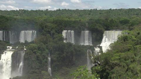 005 Iguazu waterfalls , viewed from Brazil Stock Video Footage