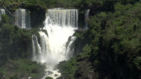 030 Iguazu waterfalls , viewed from Brazil Footage