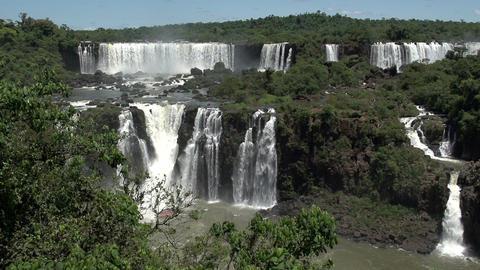 040 Iguazu waterfalls , viewed from Brazil , slowm Footage