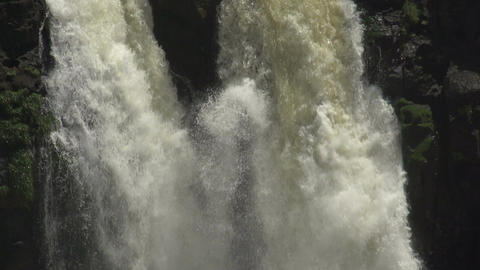 058 Iguazu waterfalls , viewed from Brazil , slowm Footage