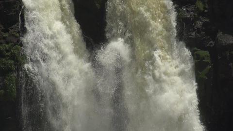 058 Iguazu waterfalls , viewed from Brazil , slowm Footage