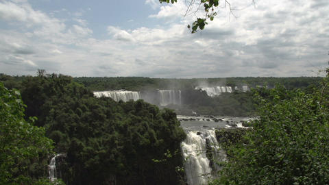 064 Iguazu waterfalls , viewed from Brazil Stock Video Footage