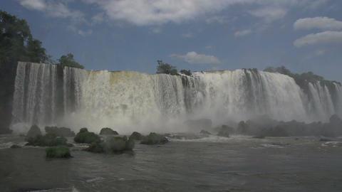 073 Iguazu waterfalls , slowmotion Stock Video Footage