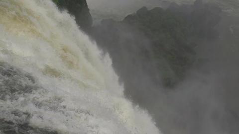 075 Iguazu waterfalls , slowmotion , close up Footage