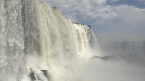 087 Iguazu waterfalls , Brazil , slowmotion Footage