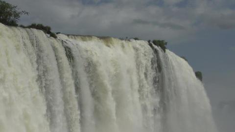 090 Iguazu waterfalls , Brazil , close up Footage