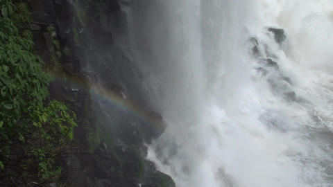 092 Iguazu waterfalls , Brazil , close up with sma Footage