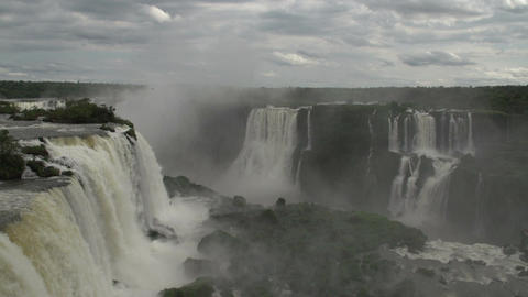 094 Iguazu waterfalls , viewed from Brazil Stock Video Footage