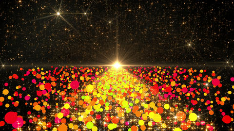 Space Colorful Dot B 3a 4k Stock Video Footage