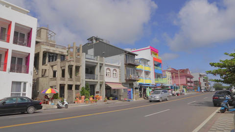 boutique accommodation at kenting beach Stock Video Footage