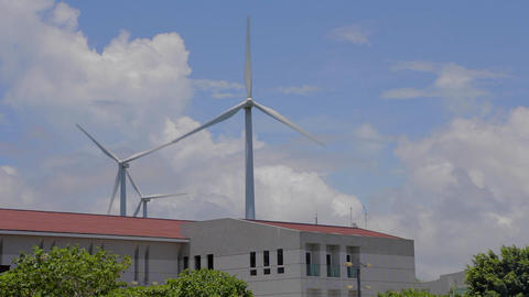 wind turbine at kenting Houbihu bay Footage