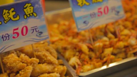 macro - battered seafood Footage