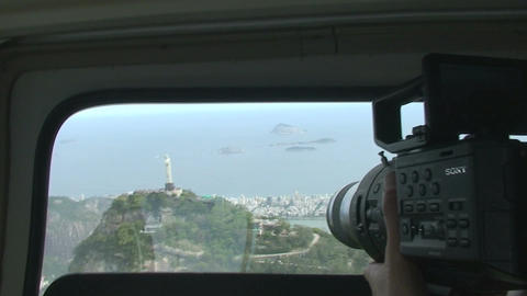 029 Rio , Helicopter flight , Aerial , Rio City , Stock Video Footage