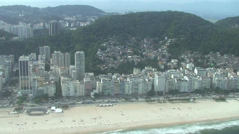 033 Rio , Helicopter flight , Aerial , Rio City ,  Footage