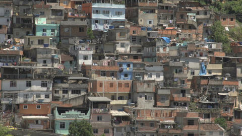041 Rio , Overview city , Favela Stock Video Footage
