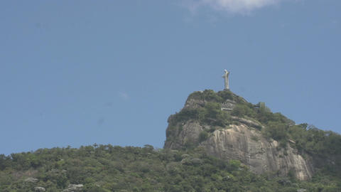 048 Rio , Christ the Redeemer on blue sky Footage