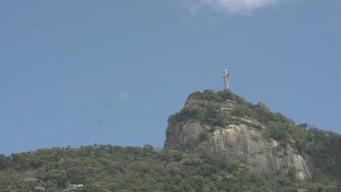 048 Rio , Christ the Redeemer on blue sky Footage