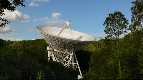 huge radio telescope move time lapse 11469 Stock Video Footage
