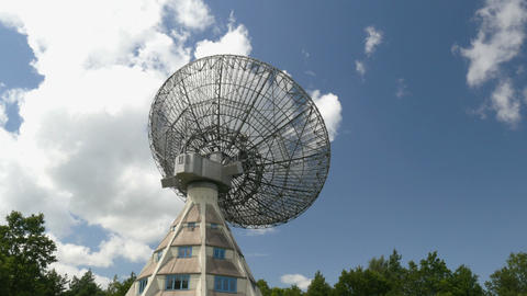 historic radio telescope tilt 11471 Footage