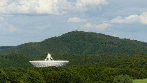 huge radio telescope valley time lapse 11473 Footage