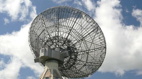 historic radio telescope close time lapse 11475 Footage