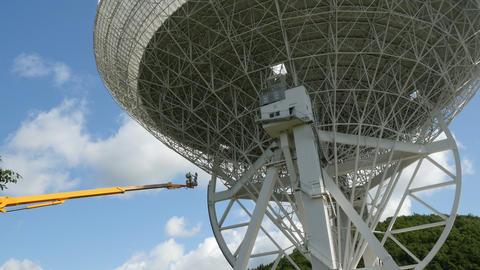 4k UHD worker crane renovate huge radio tele 11480 Footage