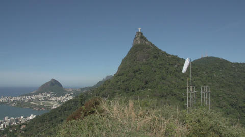 061 Rio , Christ the Redeemer , Rodrigo de Freitas Footage