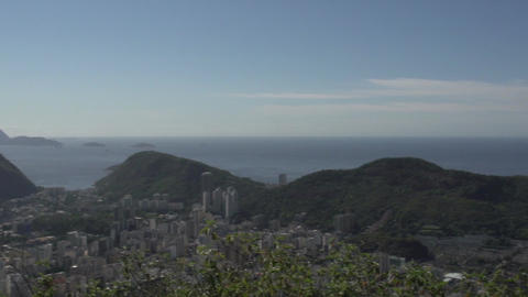 080 Rio , Coastline , Sugarleaf Mountain , panshot Footage