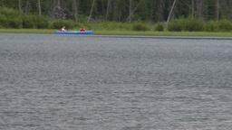 HD2008-6-6-61 canoe on pond Stock Video Footage