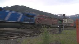 HD2008-6-6-63 intermodal train Stock Video Footage