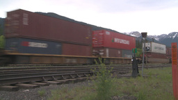 HD2008-6-6-63 intermodal train Stock Video Footage