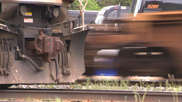 HD2008-6-6-65 intermodal train Stock Video Footage