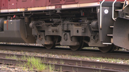 HD2008-6-6-67 deisel loco Stock Video Footage