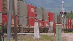 HD2008-6-7-2 Interodal train Banff fast Stock Video Footage