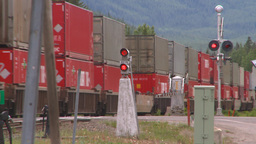 HD2008-6-7-2 Interodal train Banff fast Stock Video Footage
