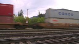 HD2008-6-7-4 Interodal train Banff fast Stock Video Footage
