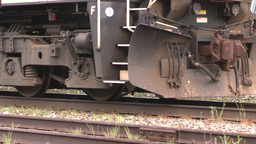 HD2008-6-7-6 cu diesel lomotive leaving slow Stock Video Footage