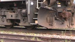 HD2008-6-7-6 cu diesel lomotive leaving slow Stock Video Footage