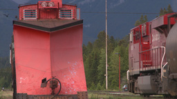 HD2008-6-7-12 hopper mixed train leaving slow end passes... Stock Video Footage