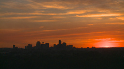 HD2008-6-8-3 sunset Calgary skyline Footage