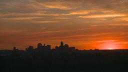 HD2008-6-8-3 sunset Calgary skyline Stock Video Footage