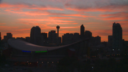 HD2008-6-8-5 sunset Calgary skyline Stock Video Footage
