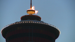 HD2008-6-8-9 dusk Calgary tower flame Stock Video Footage