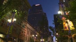 HD2008-6-8-15 dusk Calgary DT lihts Stock Video Footage