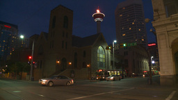 HD2008-6-8-17 dusk Calgary DT street Footage