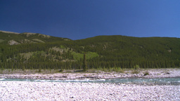 HD2008-6-9-6 river and forest mtns Stock Video Footage