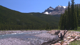 HD2008-6-9-8 mountain stream and snowy Mtn Stock Video Footage