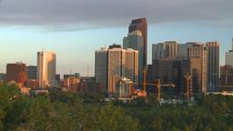 HD2008-6-9-46 Calgary eveningskyline pan Stock Video Footage