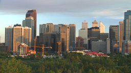 HD2008-6-9-46 Calgary eveningskyline pan Stock Video Footage